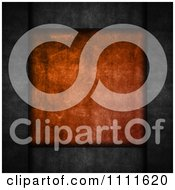 Clipart 3d Orange Grunge Plaque On Cement Royalty Free CGI Illustration