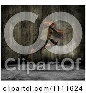 Clipart 3d Grungy Street Dancer Over Metal Royalty Free CGI Illustration