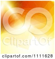 Abstract Orange Ray Background With Flares