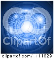 Clipart Futuristic Tunnel With Neon Blue Lights Royalty Free Vector Illustration by KJ Pargeter
