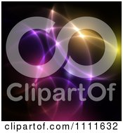 Clipart Colorful Light Orbs On Black Royalty Free Vector Illustration