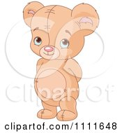 Clipart Bashful Teddy Bear Royalty Free Vector Illustration by Pushkin