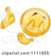 Clipart Bowing Emoticon Royalty Free Vector Illustration by yayayoyo #COLLC1111655-0157
