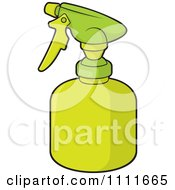 Clipart Green Gardening Water Bottle Royalty Free Vector Illustration