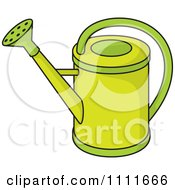 Clipart Green Watering Can Royalty Free Vector Illustration by Any Vector