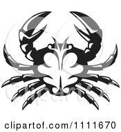 Clipart Black And White Crab Royalty Free Vector Illustration by Any Vector #COLLC1111670-0165