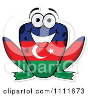 Clipart Azerbaijan Flag Frog Royalty Free Vector Illustration by Andrei Marincas