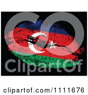 Clipart Zzerbaijan Flag Kiss On Black Royalty Free Vector Illustration by Andrei Marincas