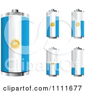 Clipart 3d Argentinian Flag Batteries At Different Charge Levels Royalty Free Vector Illustration