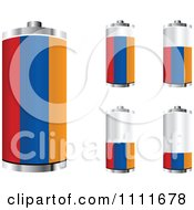 Clipart 3d Armenian Flag Batteries At Different Charge Levels Royalty Free Vector Illustration by Andrei Marincas