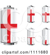 Clipart 3d English Flag Batteries At Different Charge Levels Royalty Free Vector Illustration by Andrei Marincas