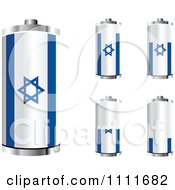 Clipart 3d Israeli Flag Batteries At Different Charge Levels Royalty Free Vector Illustration