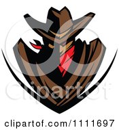 Clipart Cowboy Outlaw Shield Royalty Free Vector Illustration