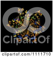 Clipart Fractal Tunnel Burst On A Black Background Royalty Free CGI Illustration