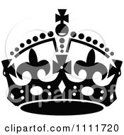 Clipart Royal Crown In Black And White Royalty Free Vector Illustration by Prawny Vintage #COLLC1111720-0178
