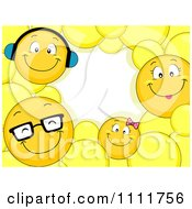 Clipart Smiley Emoticon Family Frame With Copyspace Royalty Free Vector Illustration