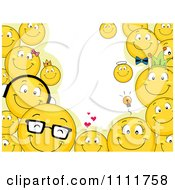 Clipart Smiley Emoticon Frame And Copyspace Royalty Free Vector Illustration