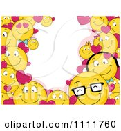 Clipart Valentine Smiley Emoticon Frame With Copyspace Royalty Free Vector Illustration