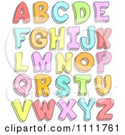Clipart Colorful Doodled Capital Letters Royalty Free Vector Illustration