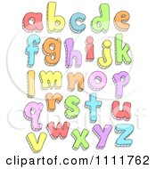 Clipart Colorful Doodled Lowercase Letters Royalty Free Vector Illustration