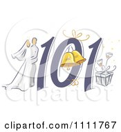 Clipart Wedding Planning 101 Icon Royalty Free Vector Illustration by BNP Design Studio