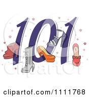 Clipart Shoes 101 Icon Royalty Free Vector Illustration