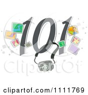 Clipart Photography 101 Icon Royalty Free Vector Illustration