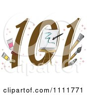 Clipart Painting 101 Icon Royalty Free Vector Illustration by BNP Design Studio