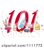 Clipart Makeup 101 Icon Royalty Free Vector Illustration