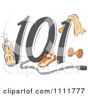 Clipart Exercising 101 Icon Royalty Free Vector Illustration