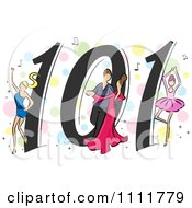 Clipart Dancing 101 Icon Royalty Free Vector Illustration