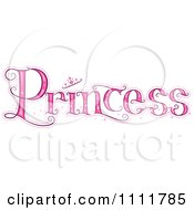 Clipart The Stylized Word PRINCESS With A Crown Royalty Free Vector Illustration by BNP Design Studio