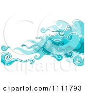 Clipart Magical Blue Clouds In The Sky Royalty Free Vector Illustration
