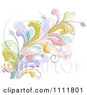 Clipart Beautiful Flowering Flourish 2 Royalty Free Vector Illustration