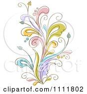 Clipart Beautiful Flowering Flourish 1 Royalty Free Vector Illustration