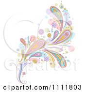Clipart Pastel Paisley Design Element Royalty Free Vector Illustration