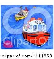 Clipart Boat And Polruan Ferry Royalty Free Illustration by Prawny