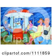 Clipart Passengers On A Polruan Ferry Royalty Free Illustration by Prawny