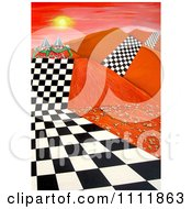 Clipart Soldiers On A Checkered Path Through A Mountainous Landscape Royalty Free Illustration by Prawny