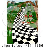 Clipart Soldiers Going Down A Checkered Path Royalty Free Illustration by Prawny