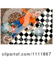 Clipart Soldiers Bandaging A Victim On A Checkered Path Royalty Free Illustration by Prawny