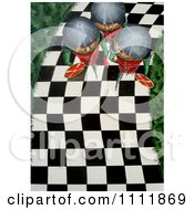 Clipart Soldiers Walking Down A Checkered Path Royalty Free Illustration by Prawny