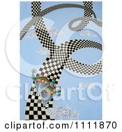 Clipart Soldiers On A Spiral Checkered Path Royalty Free Illustration by Prawny