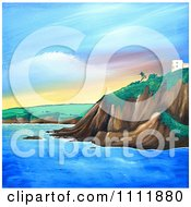 Clipart Building On A Coastal Cliff In Mevagissey Royalty Free Illustration by Prawny