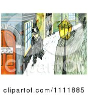 Clipart Scrooge Walking Down A Sidewalk Royalty Free Illustration by Prawny