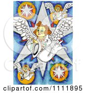 Clipart Angels With Stars Royalty Free Illustration