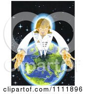 Clipart The Antichrist Standing On Earth Royalty Free Illustration