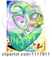 Clipart Man And Worms Sipping From A Bottle Corporation Pop Royalty Free Illustration by Prawny