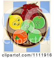 Clipart Fruit Talking In A Bowl Royalty Free Illustration