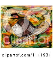 Clipart Snail On An Abstract Background Royalty Free Illustration by Prawny